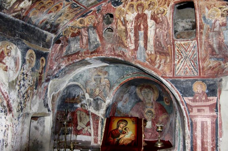 dag 6: fresco's in Macedonisch kerkje